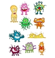 Cute monsters demons beasts and mutants vector image