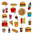 Takeaway and fast food snacks vector image vector image