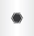black hexagon frame icon sign vector image