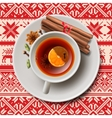 Christmas tea with spices aromatic mulled wine vector image