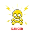 Electrical shock hazard sign electricity vector image