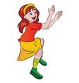 girl cheering vector image