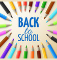 learning and school education concept back vector image