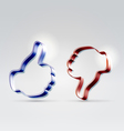 Like and unlike glossy icons vector image
