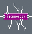 logo purple chip technology vector image