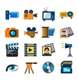 movie technology vector image