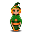 Nested doll witch vector image