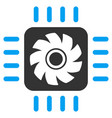 processor cooler flat icon vector image
