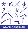 weapons and guns icons eps10 vector image
