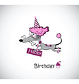 Birthday poodle vector image vector image