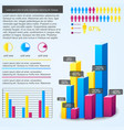 bar chart infographic vector image