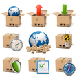 Shipment Icons Set 9 vector image vector image