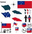 Samoa map vector image