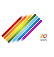 Bright rainbow stripes background vector image
