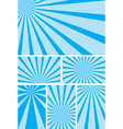 blue backgrounds with radial rays - set vector image vector image
