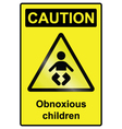 Children hazard Sign vector image