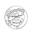 Fried fish with lemon and herbs vector image vector image