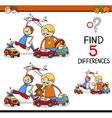 find the differences activity vector image