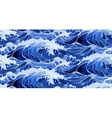 Watercolor storm waves pattern vector image