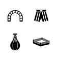 boxing ring simple related icons vector image