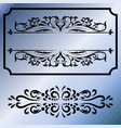 decorative frames retro black frame vector image