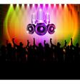 dj and dancing vector image