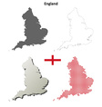 England outline map set vector image