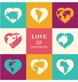 Heart world - love vector image
