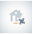 house concept puzzle background vector image