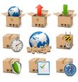 Shipment Icons Set 9 vector image