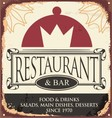 Vintage restaurant sign template vector image