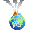 polluted earth vector image vector image