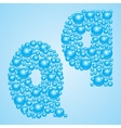 Bubbles in blue Alphabet of bubbles Eps 10 vector image
