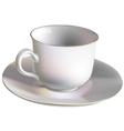 Porcelain cup vector image