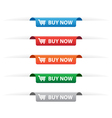 Buy now paper tag labels vector image vector image