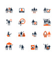Business people icons Management human resources vector image vector image