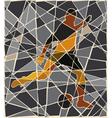 Soccer kick mosaic vector image