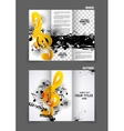 Music tri fold brochure vector image vector image