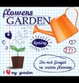 Flower garden poster vector image
