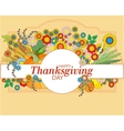 Happy Thanksgiving card with autumn leaves vector image