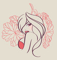 women face floral vector image vector image