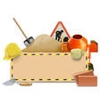 Construction Board with Concrete Mixer vector image vector image