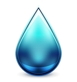Hi-tech water drop icon Vector Image