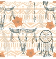 Boho seamless pattern with dreamcatchers and vector image