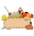Construction Board with Concrete Mixer vector image