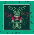 cute Easter rabbit cartoon vector image