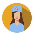 doctor web icon nurse avatar vector image