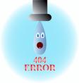 Drop in shock vector image