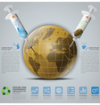 Ecology And Environment Infographic With Syringe vector image