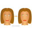 Face changes wrinkles vector image